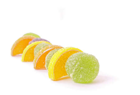 sugary: Colorful fruit sugary candies