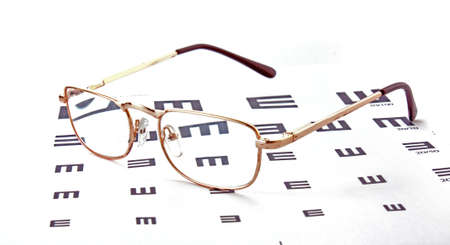 Glasses on test chart Stock Photo - 6442935