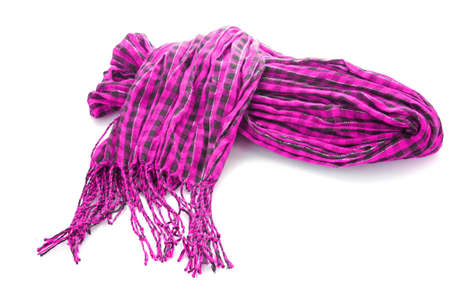 muffle: Winter warm pink scarf over white