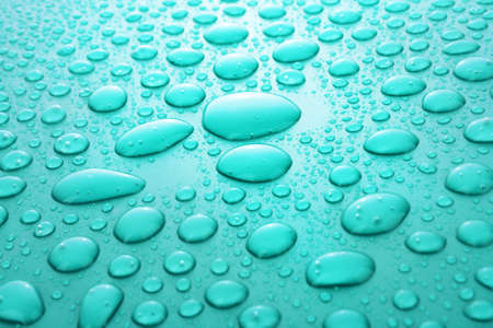 Blue water drops background Stock Photo - 6571889
