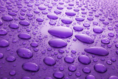 water drops background with big and small drops Stock Photo - 6737425