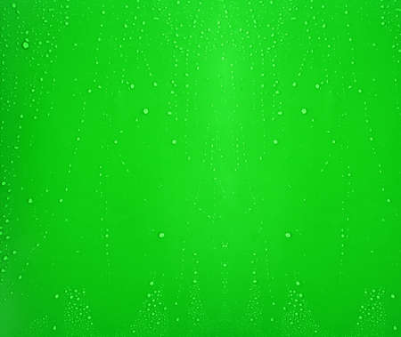 Green water drops background with big and small drops Stock Photo - 6737430