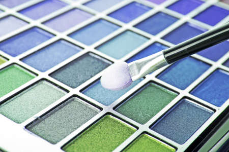 Big eye shadow kit and applicator Stock Photo - 6737528
