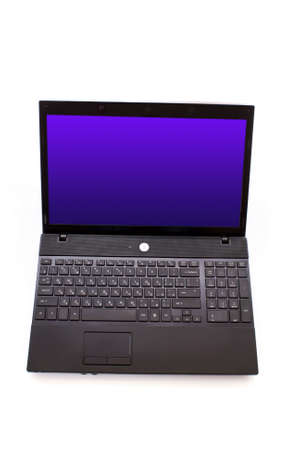 Black laptop isolated on white Stock Photo - 6801688
