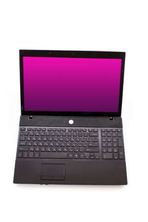 Black laptop isolated on white Stock Photo - 6801530