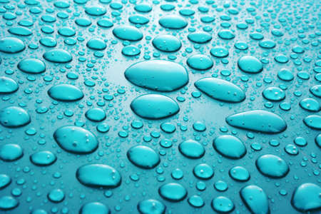 Water Drops background with big and small drops Stock Photo - 7185895