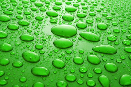 Water Drops background with big and small drops Stock Photo - 7185893