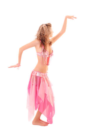bailarinas arabes: Bailarina del vientre aislado en un fondo blanco