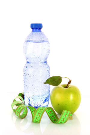 healthy living requires water, fruits and exercise photo