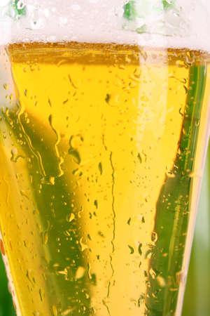 Cup of beer closeup photo
