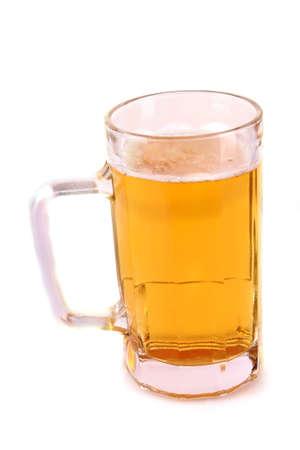 Mug of beer isolated on white Stock Photo - 8331457