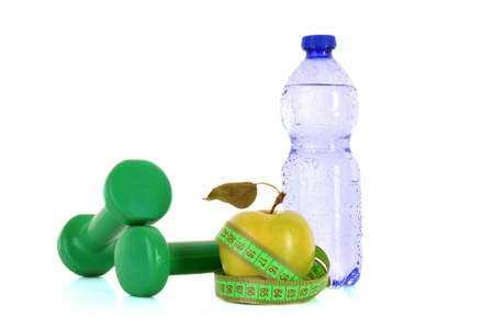 healthy living requires water, fruits and exercise Stock Photo - 8665069