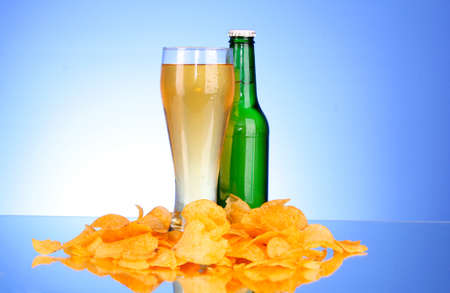 beer and chips Stock Photo - 8665265