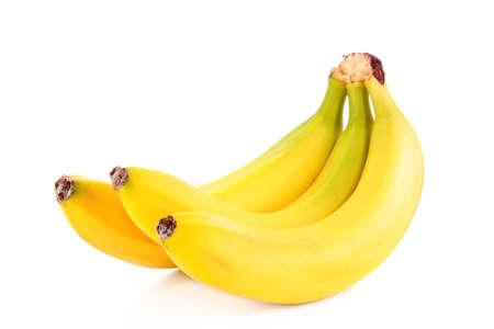 Bos van bananen geïsoleerd op witte achtergrond