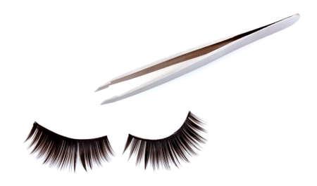 False lashes, isolated on white photo
