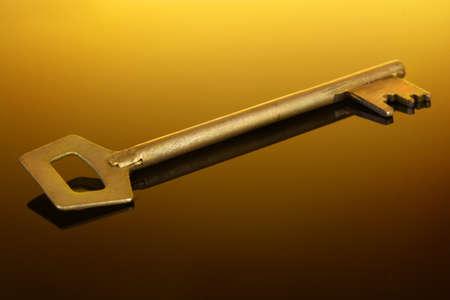 Gold key da casa su nero