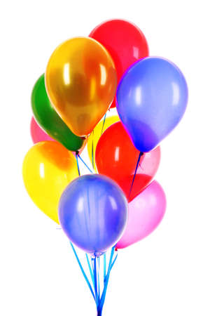 Flying balloons isolated on white Stock Photo - 9033432