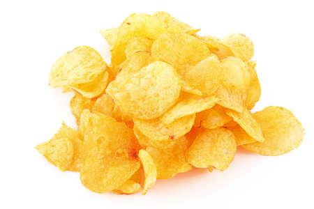 potato chips: Potato chips isolated on white Stock Photo