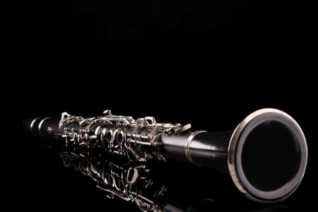 timbre: Clarinet isolated on black Stock Photo