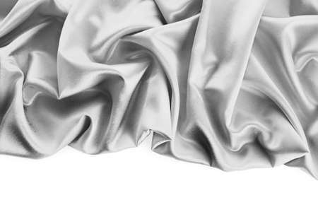 Elegant soft grey satin texture photo
