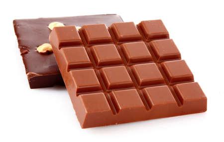 milk and black chocolate bars photo