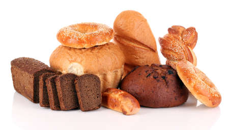carbohydrate: Assorted bread Stock Photo
