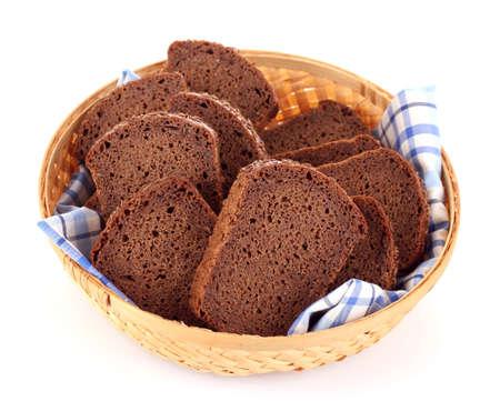 Geïsoleerd op wit brood Stockfoto