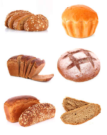Set of fresh wheat bread Stock Photo - 9473588