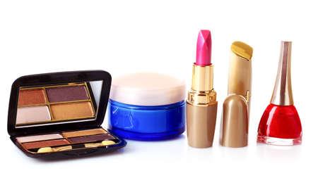 Cosmetics isolated on white Stock Photo - 9473604