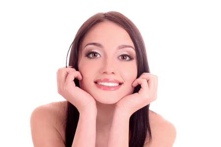 Beautiful young smiling woman with healthy skin and great teeth Stock Photo - 9579488