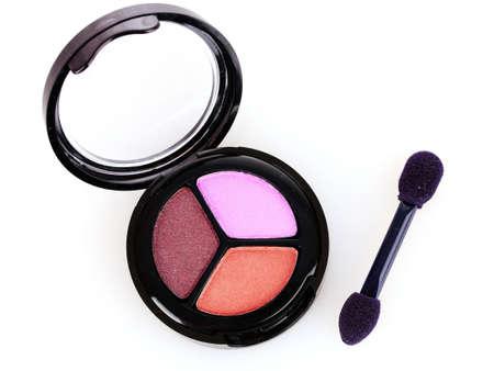 Pink and brown eyeshadows photo