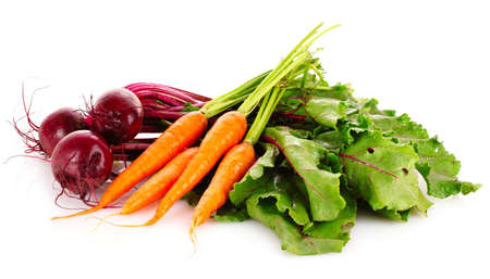 carrots: hortalizas en blanco Foto de archivo
