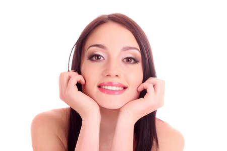 Beautiful young smiling woman with healthy skin and great teeth Stock Photo - 9774983