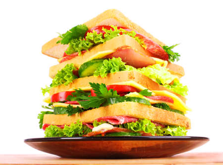 huge: Huge sandwich on white background