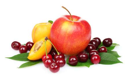 tasty summer fruits isolated on white Stock Photo - 9887342