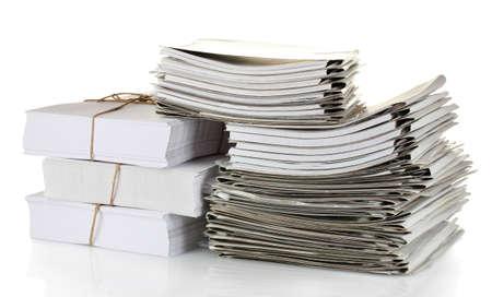 administrativo: Carpetas de archivo sobre fondo blanco