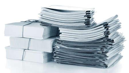 File folders on white background photo