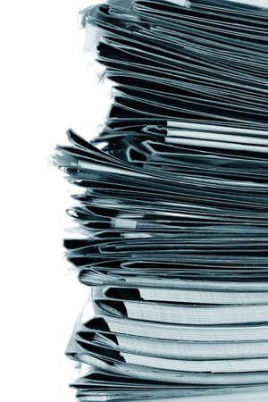 many gray folder isolated on white Stock Photo - 9999160