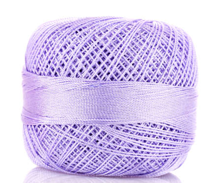 tangle of purple thread isolated on white photo