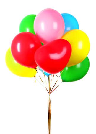 Vols ballons isolés sur fond blanc Banque d'images