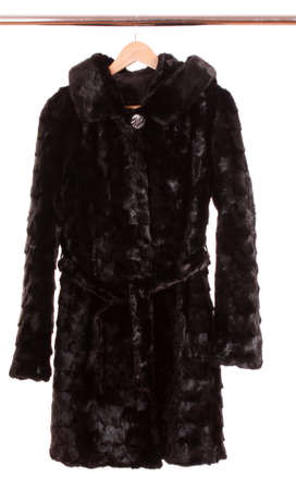 women fur coat photo