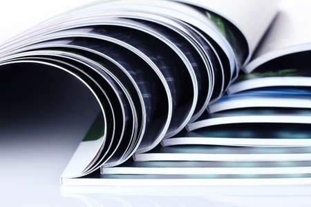 many magazines isolated on white Stock Photo - 9999262