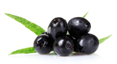 greek chef: tasty olives isolated on white