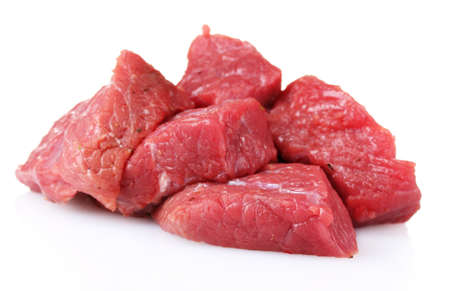 raw meat isolated on white