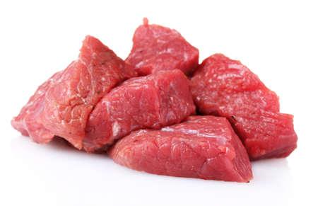 steak cru: viande crue isol�e sur fond blanc