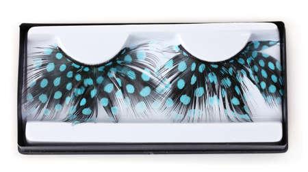 beautiful eyelashes feather isolated on white Stock Photo - 10091072