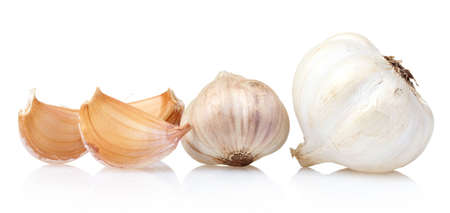 fresh garlic: fresh garlic isolated on white Stock Photo