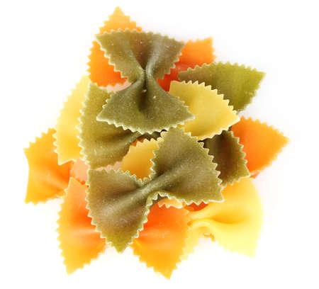 vermicelli: fideos sabrosa aislados en blanco Foto de archivo