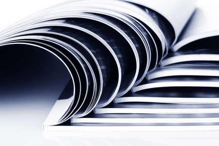 many magazines isolated on white Stock Photo - 10091083