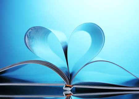 magazine on blue background Stock Photo - 10091068